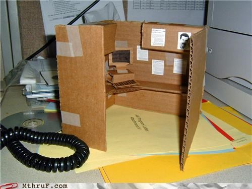 art,awesome,cardboard,cubicle