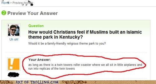 coaster,muslim,rickety,ride,twin towers,Yahoo Answer Fails