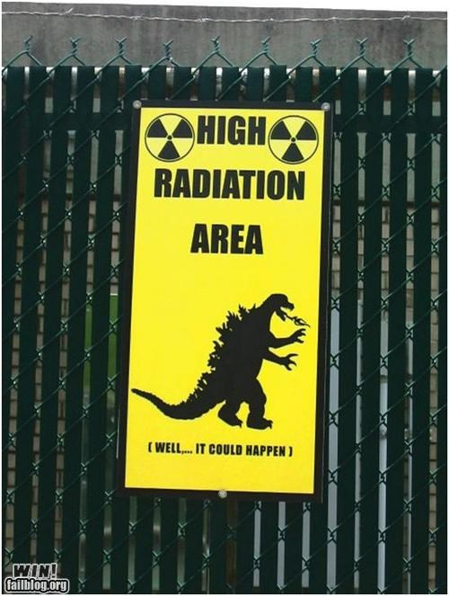 awesome godzilla signs warning - 4662517760