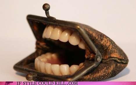 cool accessories nancy fouts purse teeth - 4664962048