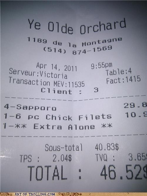 alone receipt Sad - 4665017344