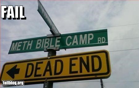 camps dead end failboat g rated juxtaposition religion street signs - 4665154048
