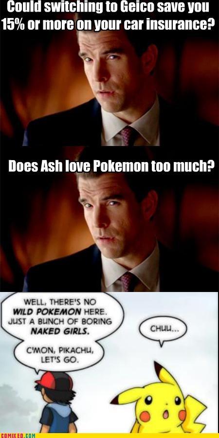 forever alone,GEICO,pikachu,Pokémon,TV