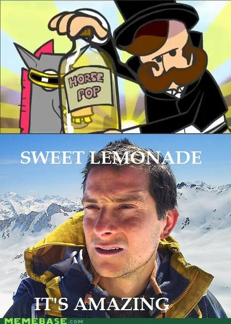 amazing horse,bear grylls,horse pop,sweet lemonade