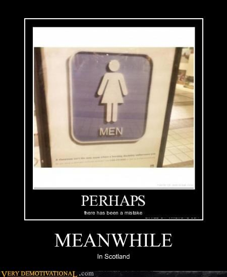 bathroom,Meanwhile,men,scotland,woman