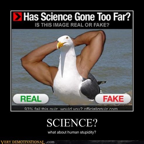 SCIENCE? what about human stupidity?