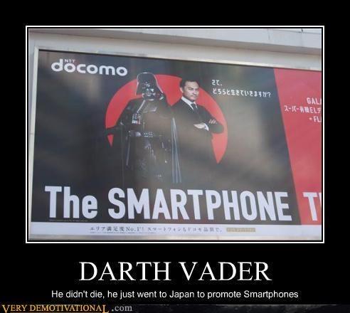 darth vader,Japan,smartphones