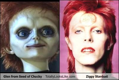 david bowie,dolls,glen,movies,musicians,seed of chucky,ziggy stardust