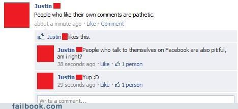 justin irony liking your own status - 4667042048