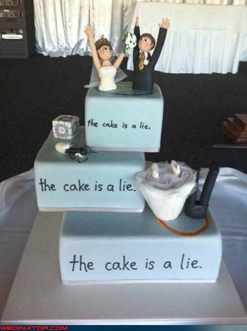 funny wedding photos,portal wedding cake,wedding cake