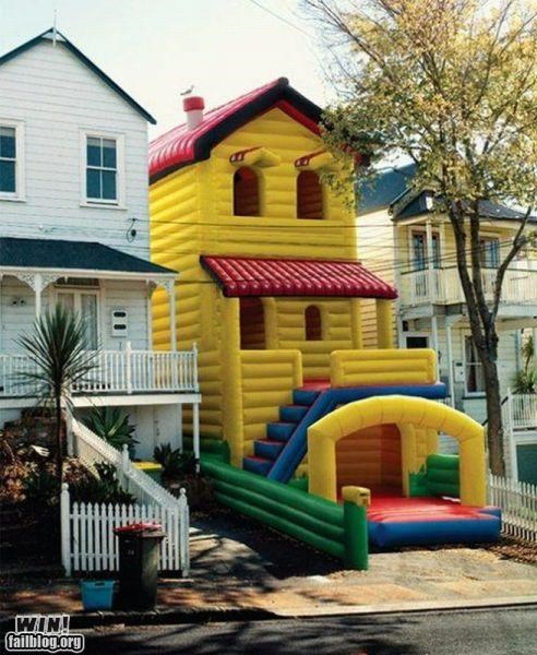 awesome Bouncy House neighborhood neighbors toys