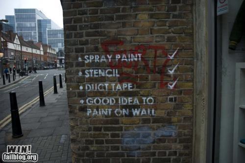 clever graffiti hacked stencil - 4667838464