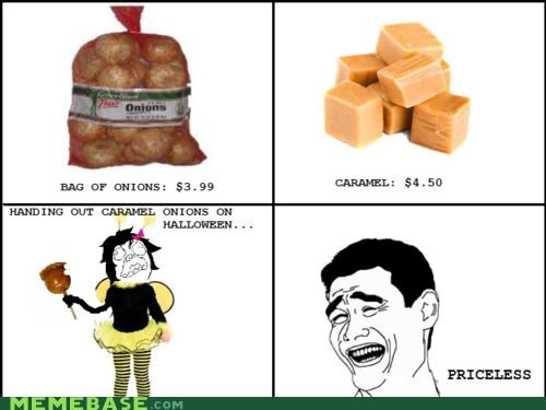 apples,caramel,delicious,halloween,onions,priceless,Rage Comics