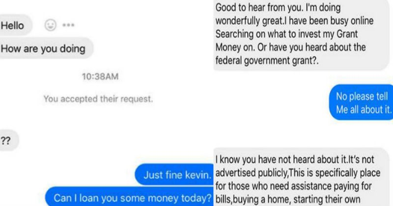 Facebook scammer gets trolled by a guy's friend after hacking his Facebook.