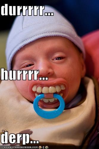 baby derp pacifier teeth - 4667969536