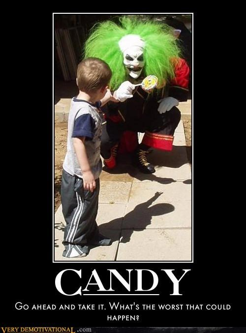 candy clown evil scary