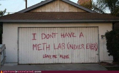 alone,garage,meth