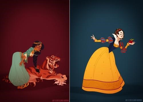 Art Project Claire Hummel disney princesses