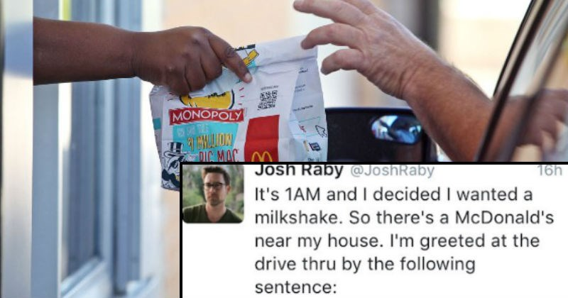 Guy live-tweets an unforgettably weird drive-thru experience at McDonald's.