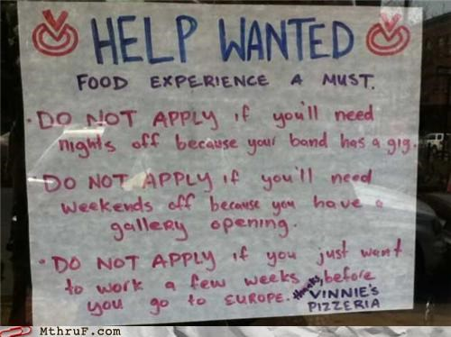 hipster job notice sign - 4668311552