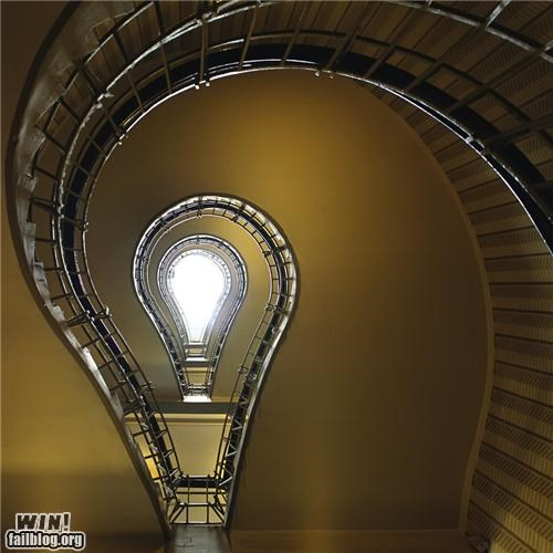 awesome shape staircase - 4668336896