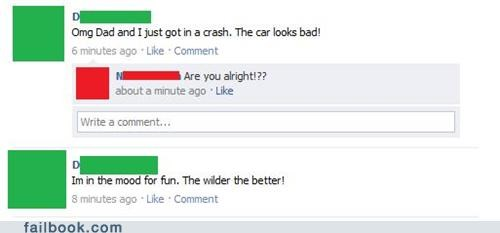 car crashes,fun,party hard