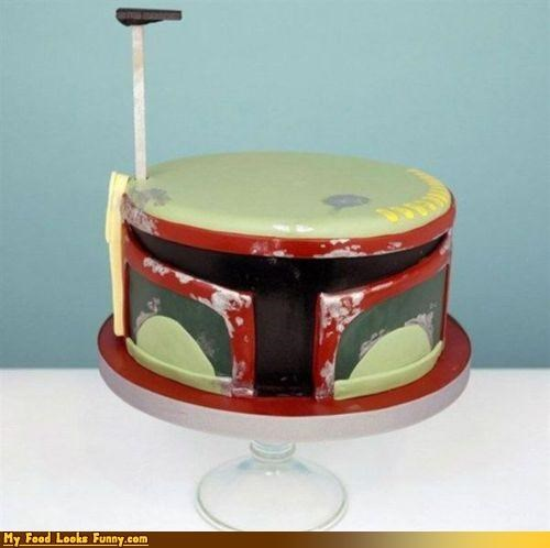 boba fett bounty hunter cake fondant star wars - 4668635904