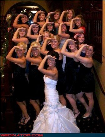 bridal party,bride,funny wedding photos,sorority