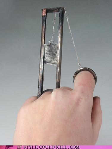 cool accessories guillotine ring of the day rings - 4668740608