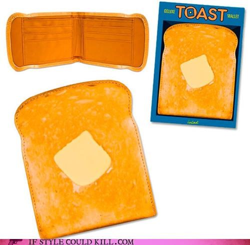 cool accessories food toast wallet - 4668870912