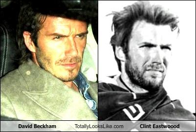 actors athletes Clint Eastwood David Beckham soccer sports - 4668883712