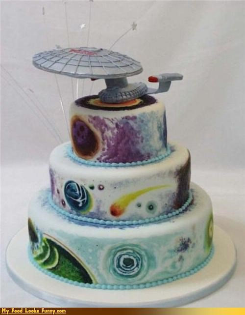 cake,enterprise,fondant,Star Trek,sweets
