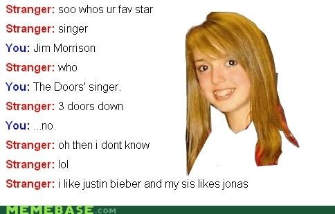 8th grader,doors,justin bieber,Musically Oblivious 8th Grader,Omegle,star