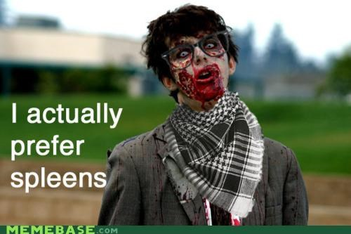 brains,hipster,hipster-disney-friends,scarf,spleen,zombie