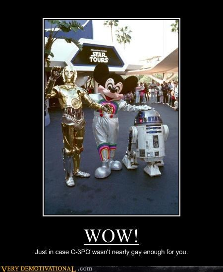WOW! Just in case C-3PO wasn't nearly gay enough for you.