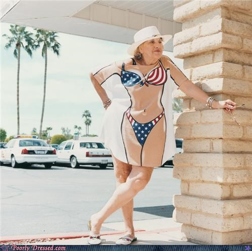 American Flag bad shirt bikini geriatric - 4669805056