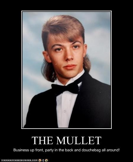 THE MULLET Business up front, party in the back and douchebag all around!