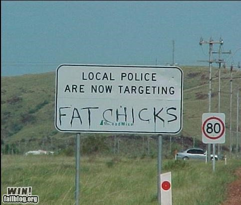 graffiti hacked police road sign - 4670048768
