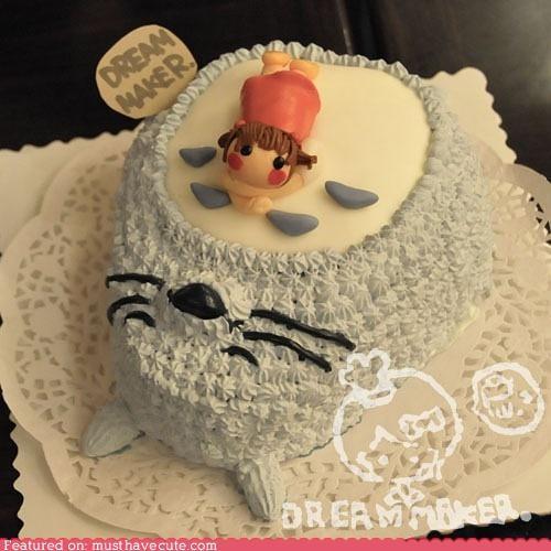 cake,epicute,frosting,girl,nap,sleepy,totoro