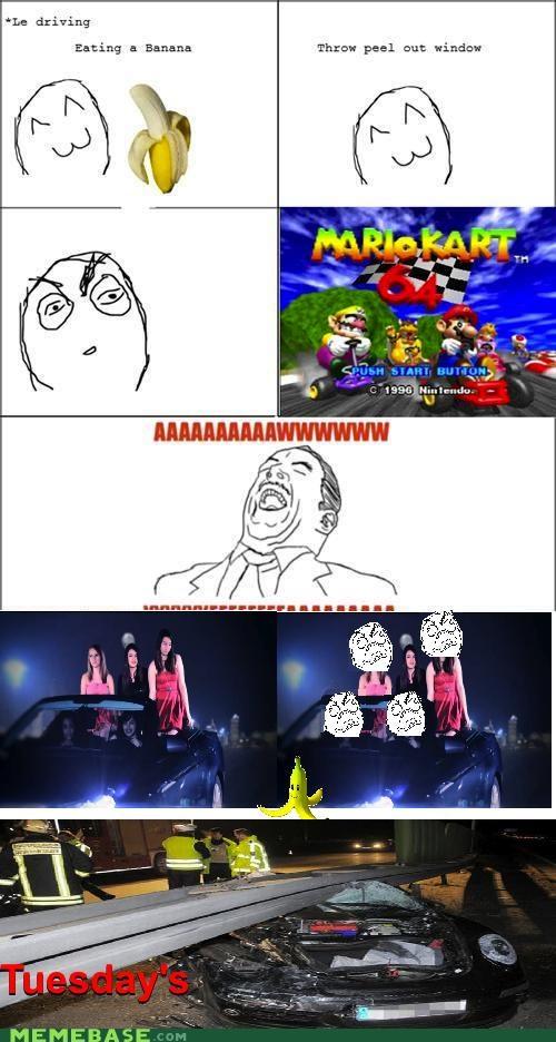 banana FRIDAY Mario Kart Rage Comics Rebecca Black tuesday - 4670085376