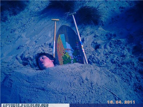 beach,buried,sand,surfboard