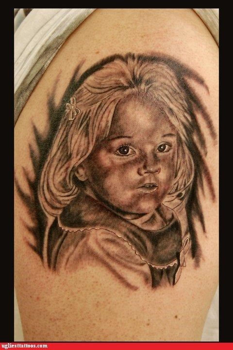 bad portraits tattoos funny - 4670570240