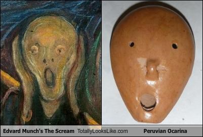 Edvard Munch,masks,paintings,peruvian ocarina,The Scream