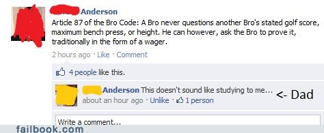 studying,parenting,bro code