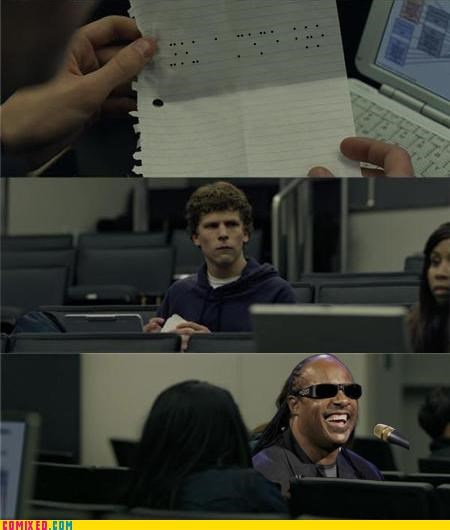 braille facebook social network stevie wonder