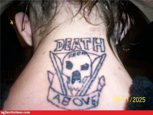 bad death from above tattoos funny derp - 4671074816