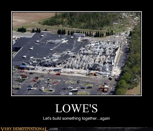 build hilarious irony lowes wrecked