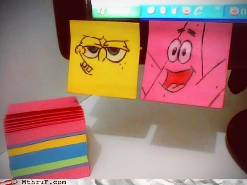 art,note,post it,SpongeBob SquarePants
