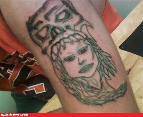wtf tattoos skulls funny - 4671559680