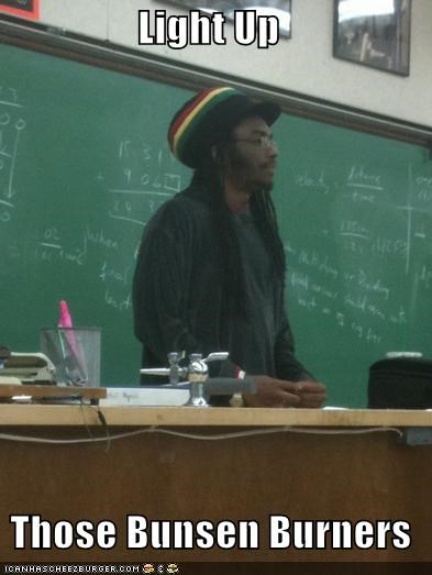 bunsen hot light up Rasta Prof weed - 4671605248